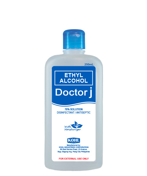 DOCTOR J 70% Ethyl Rubbing Alcohol 250mL