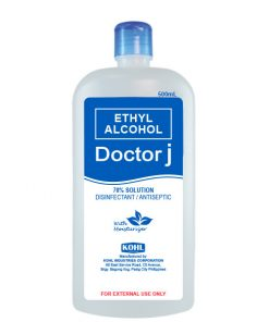 DOCTOR J 70% Ethyl Rubbing Alcohol 500mL