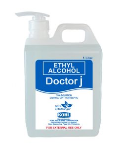 DOCTOR J 70% Ethyl Rubbing Alcohol 1 Liter Pump