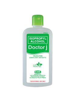 DOCTOR J 70% Isopropyl Rubbing Alcohol 250mL