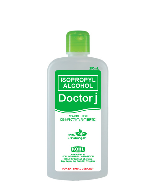 DOCTOR J 70% Isopropyl Rubbing Alcohol 250mL – Kohl