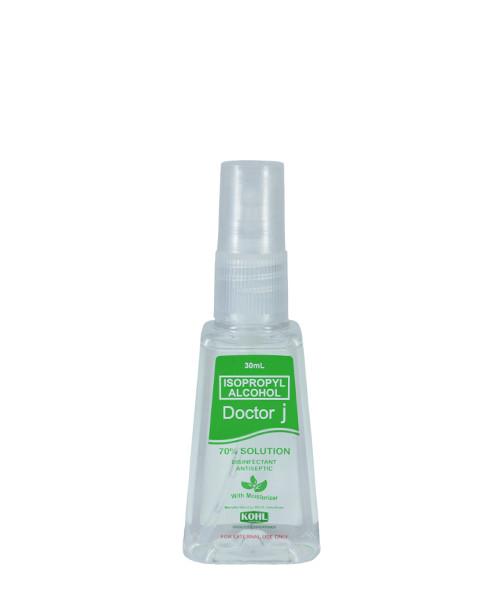 DOCTOR J 70% Isopropyl Rubbing Alcohol 30mL Sprayer