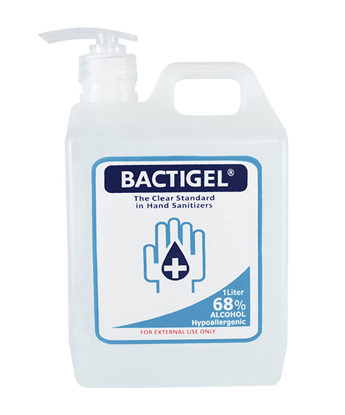 BACTIGEL Hand Sanitizing Gel with 68% Ethyl Alcohol 1 Liter