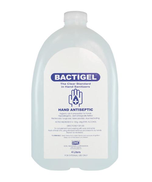BACTIGEL Hand Sanitizing Gel with 68% Ethyl Alcohol 1 Gallon