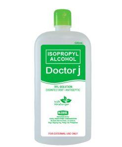 DOCTOR J 70% Isopropyl Rubbing Alcohol 500mL