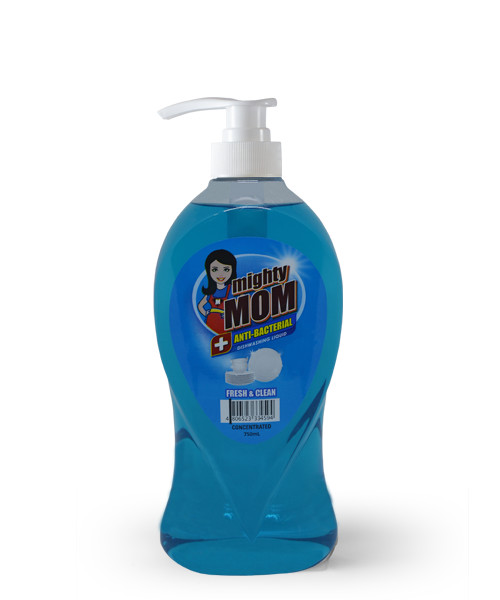 Mighty Mom Antibacterial Dishwashing Liquid Fresh and Clean 750mL